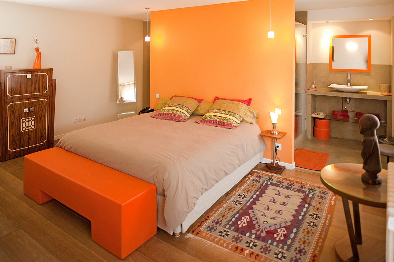 Beautiful Chambre Orange Et Taupe Pictures   House Design .