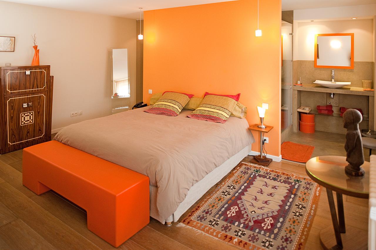 Chambre mandarine maison de myon for La chambre mandarine