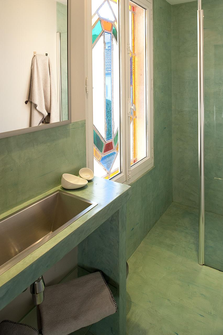 chambre turquoise maison de myon. Black Bedroom Furniture Sets. Home Design Ideas